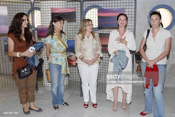 Celia Flores, Pepa Flores, guest, Maria Esteve and Tamara Flores attend Maria Esteve's picture exhibition 'De Malaga Al Cielo'. Her daughters Celia...