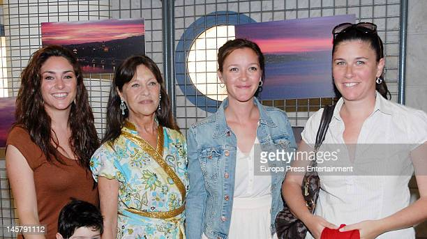 Celia Flores, Pepa Flores, Maria Esteve and Tamara Flores attend Maria Esteve's picture exhibition 'De Malaga Al Cielo'. Her daughters Celia Flores...