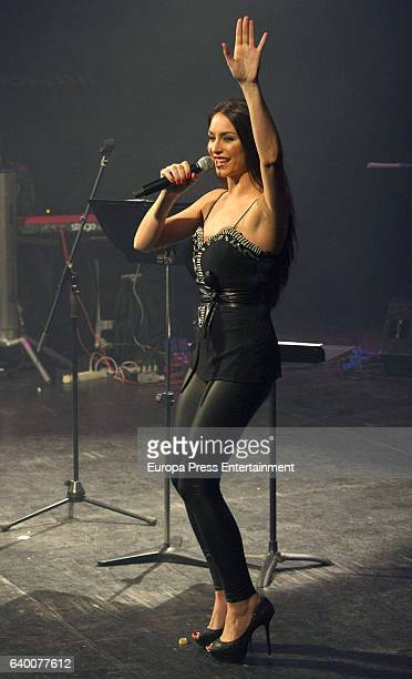 Celia Flores performs during concert '20 years from Marisol to Pepa Flores' at Cervantes Theatre on December 23 2016 in Malaga Spain