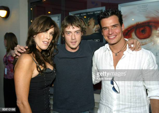 Celia Fox Chairwoman of Cafe Entertainment actor Jason London and actor Antonio Sabato Jr arrive at the premiere of Wasabi Tuna at the Laemmle Sunset...