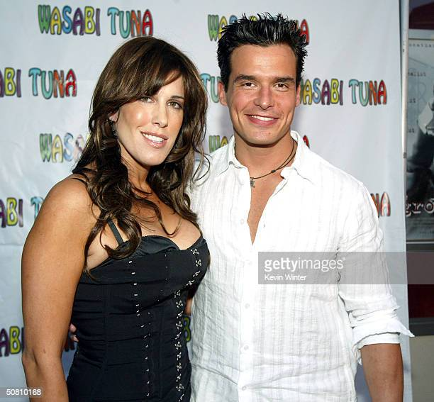 Celia Fox Chairwoman of Cafe Entertainment and actor Antonio Sabato Jr arrive at the premiere of Wasabi Tuna at the Laemmle Sunset 5 Theatre on May 6...