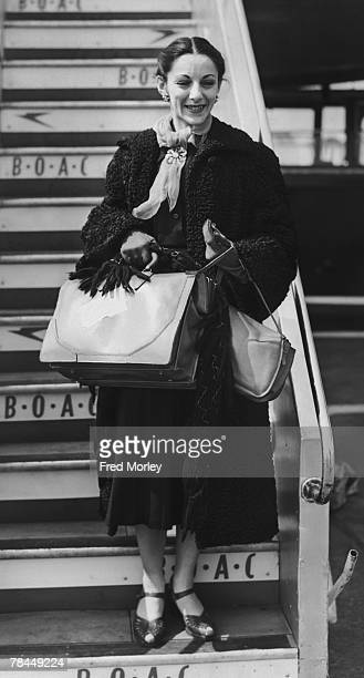 Celia Franca , co-founder and artistic director of The National Ballet of Canada, arrives at London Airport , 23rd April 1953. Franca formerly danced...