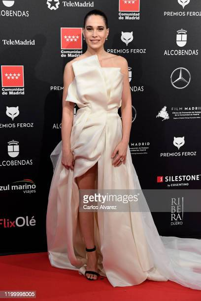 Celia Freijeiro attends Feroz awards 2020 red carpet at Teatro Auditorio Ciudad de Alcobendas on January 16, 2020 in Madrid, Spain.