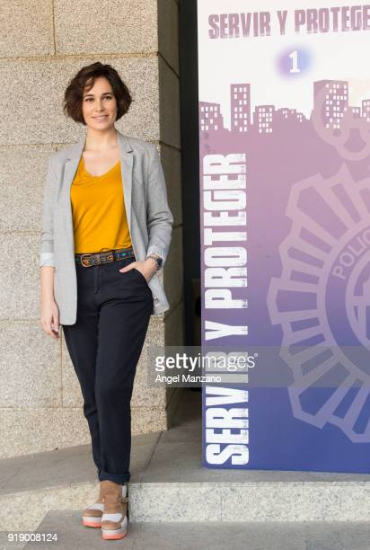 Celia Freijeiro attends 'Servir Y Proteger' New Characters Presentation on February 16 2018 in Madrid Spain