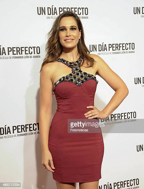 Celia Freijeiro attends the 'A Perfect Day' Premiere at Palafox Cinema on August 25, 2015 in Madrid, Spain.