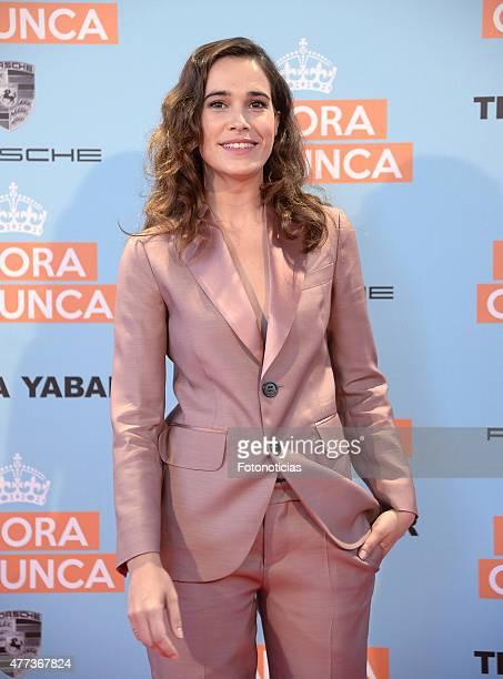 Celia Freijeiro attends the 'Ahora o Nunca' premiere at Capitol Cinema on June 16, 2015 in Madrid, Spain.