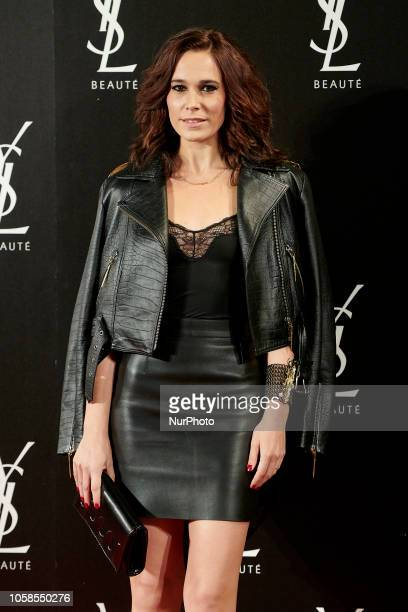 Celia Freijeiro attends the YVES SAINT LAURENT THE SLIM Rouge PurCouture party photocall at Santona Palace in Madrid on October 6 2018
