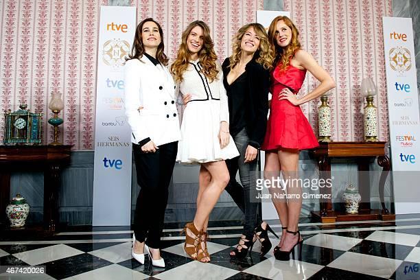 Celia Freijeiro, Mariona Tena, Marta Larralde and Maria Castro attend the 'Seis Hermanas' photocall during FesTVal Murcia 2015 on March 24, 2015 in...