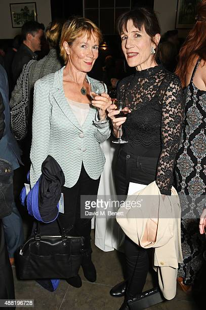 Celia Imrie and Harriet Walter attend the 'Photograph 51' press night after party at the The National Cafe on September 14 2015 in London England
