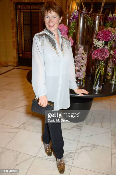 Celia Imrie attends an after party following the UK Premiere of 'The Happy Prince' hosted by Justine Picardie editor of Harper's Bazaar at Cafe Royal...