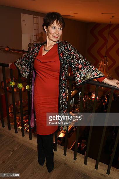 Celia Imrie attends the press night after party celebrating The Old Vic's production of 'King Lear' at the Ham Yard Hotel on November 4 2016 in...