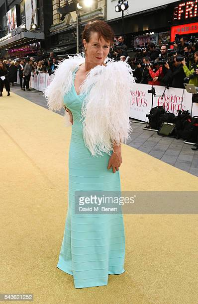 Celia Imrie attends the World Premiere of 'Absolutely Fabulous The Movie' at Odeon Leicester Square on June 29 2016 in London England