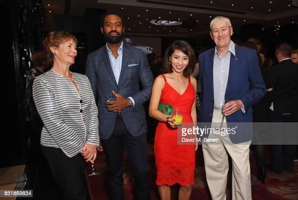 Celia Imrie Nicholas Pinnock Jing Lusi and Nicholas Lyndhurst attend the Raindance Film Festival anniversary drinks reception at The Mayfair Hotel on...