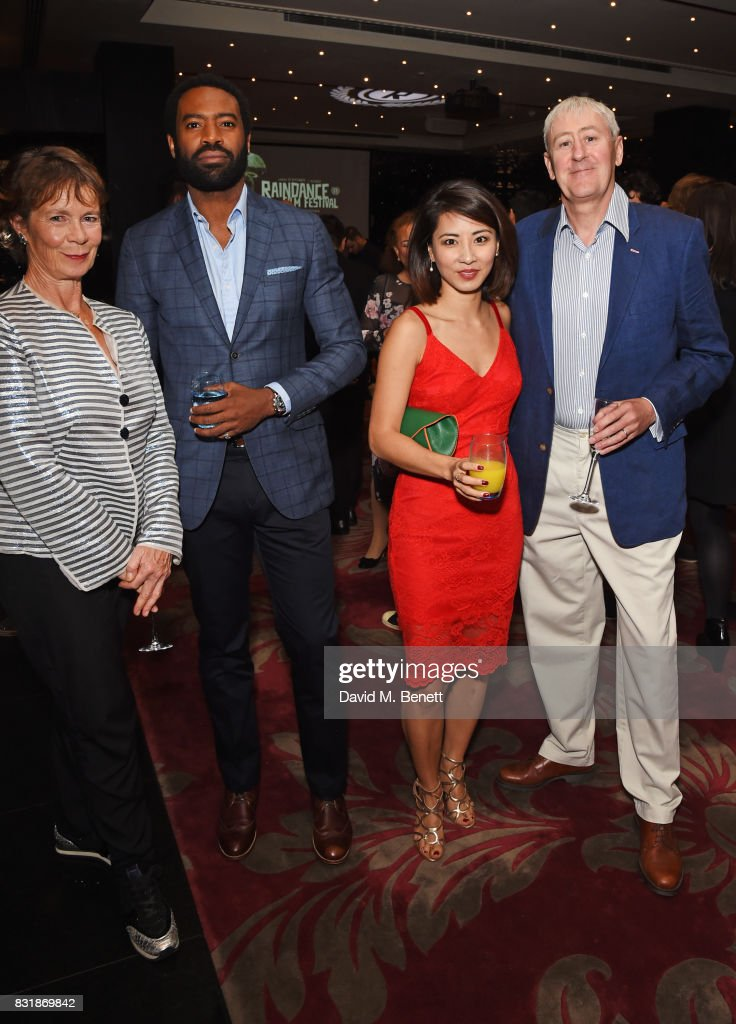Celia Imrie, Nicholas Pinnock, Jing Lusi and Nicholas Lyndhurst attend the Raindance Film Festival anniversary drinks reception at The Mayfair Hotel on August 15, 2017 in London, England.