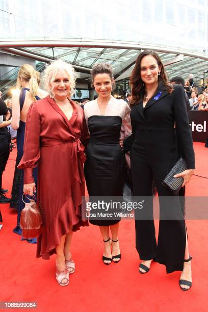 Celia Ireland Kate Atkinson and Nicole Da Silva attend the 2018 AACTA Awards Presented by Foxtel at The Star on December 5 2018 in Sydney Australia