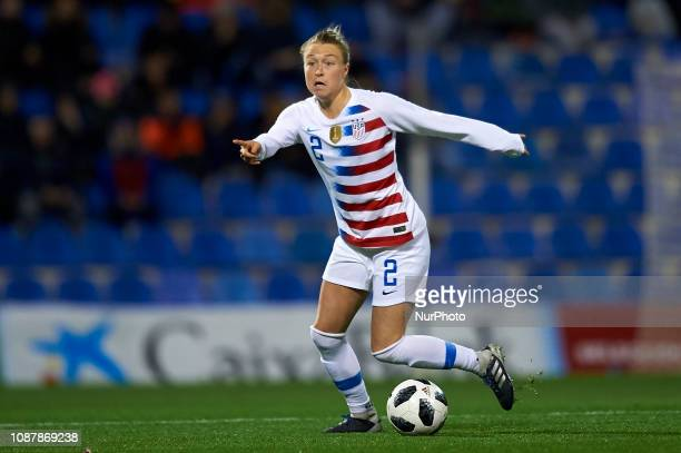 Celia Jimenez of Spain during the friendly match between Spain and USA at Rico Perez Stadium in Alicante Spain on January 22 2019