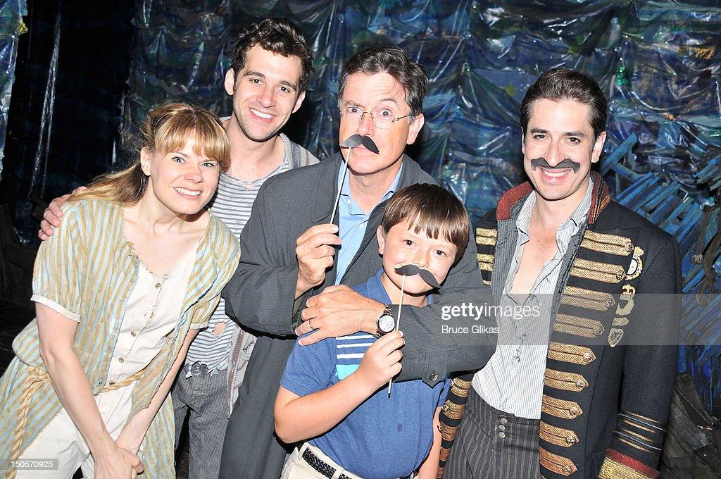 Celia Keenan-Bolger, Adam Chanler-Berat, Stephen Colbert his son