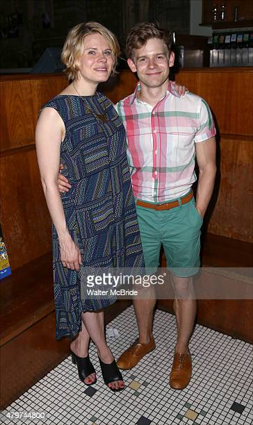 Celia KeenanBolger and Andrew KeenanBolger attend the After Party for the One Night Only 10th Anniversary Concert of 'The 25th Annual Putnam County...