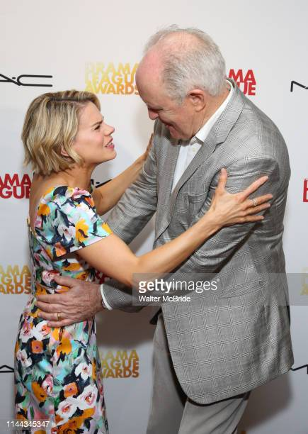 Celia KeenanBolger and John Lithgow attend the 85th Annual Drama League Awards at the Marriott Marquis Times Square on May 17 2019 in New York City