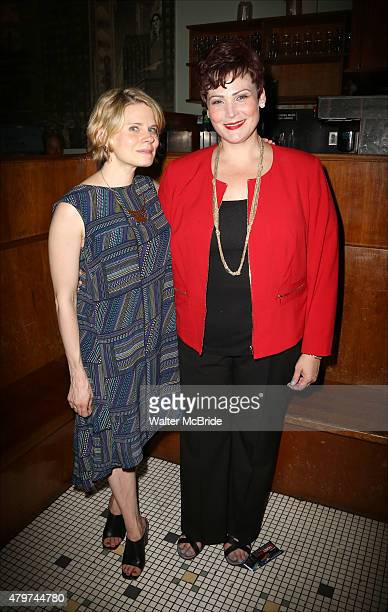 Celia KeenanBolger and Lisa Howard attend the After Party for the One Night Only 10th Anniversary Concert of 'The 25th Annual Putnam County Spelling...