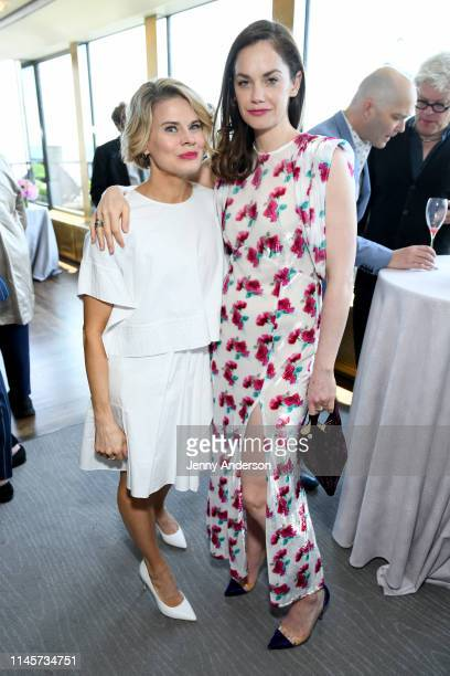 Celia KeenanBolger and Ruth Wilson attend the 2019 Tony Awards Nominees' Luncheon at The Rainbow Room on May 21 2019 in New York City
