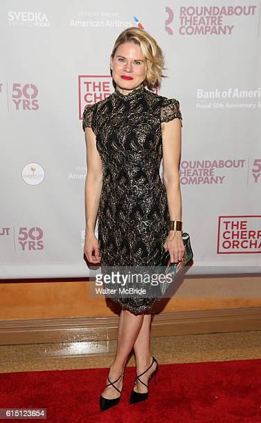 Celia KeenanBolger attends the Broadway Opening Night performance press reception for The Cherry Orchard at the American Airlines Theatre on October...