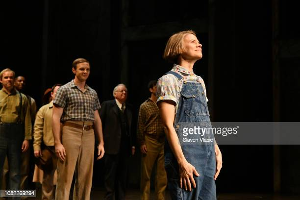Celia KeenanBolger bows during curtain call after opening night of To Kill A Mocking Bird at the Shubert Theatre on December 13 2018 in New York City