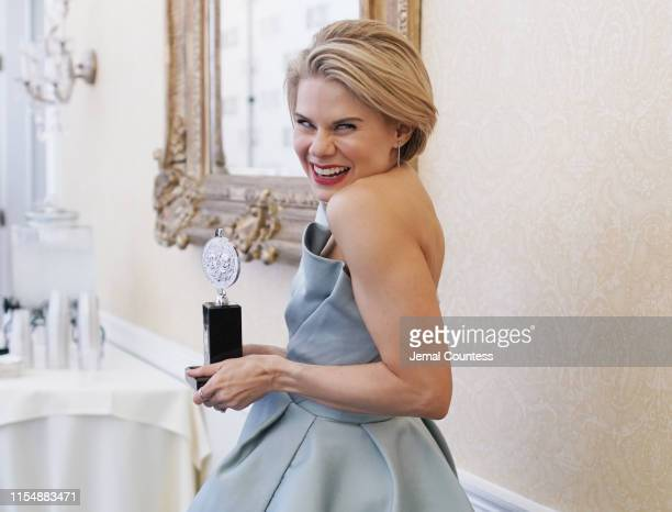 "Celia Keenan-Bolger, winner of the award for Best Performance by an Actress in a Featured Role in a Play for ""To Kill a Mockingbird,"" poses in the..."