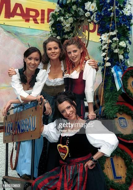 """Celia Kim, Leonore Capell, Carolin Graller, Berrit Arnold , Feier zur 2000. Folge der ARD-Serie """"Marienhof"""", München, , """"Bavaria""""-Filmgelände,..."""