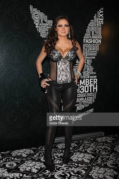 Celia Lora attends the Christmas Playboy Mexico magazine party at the Ragga Antara Polanco on November 30 2011 in Mexico City Mexico