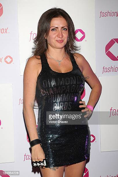 Celia Lora attends the launch of Fashionbox at MoonBar Hotel Camino Real Polanco on October 17 2012 in Mexico City Mexico