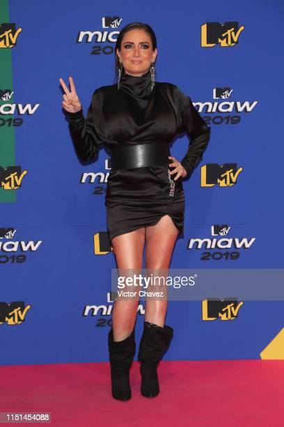 Celia Lora attends the red carpet of the MTV MIAW Awards at Palacio de los Deportes on June 21 2019 in Mexico City Mexico