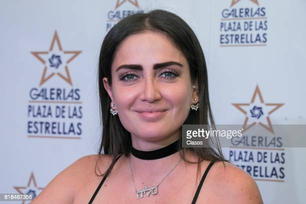 Celia Lora poses during the launching of the new Playboy with her on the cover at Plaza de las Estrellas on July 13 2017 in Mexico City Mexico