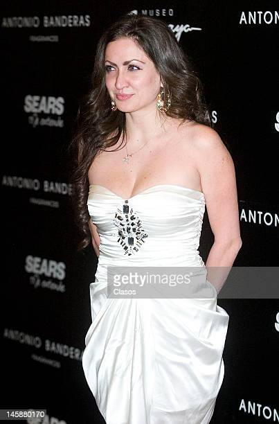 Celia Lora poses for a picture at the launch of the new fragrance of Antonio Banderas Her Secret on June 06 2012 in Mexico City Mexico