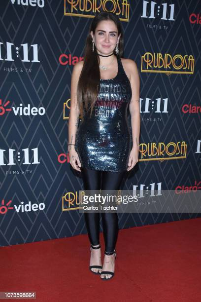Celia Lora poses for photos during the premiere of 'Rubirosa' new Claro Video Series at Cinepolis Plaza Carso on November 27 2018 in Mexico City...