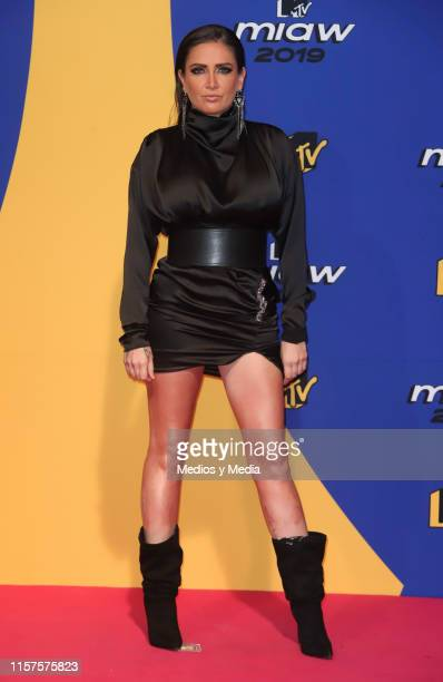 Celia Lora poses for the photos during the red carpet of the MTV MIAW Awards at Palacio de los Deportes on June 21 2019 in Mexico City Mexico
