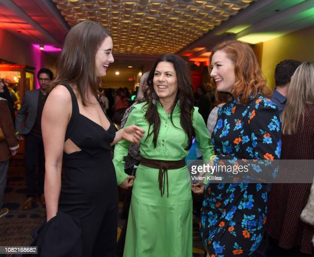 Celia Massingham Allanah Zitserman and Alison McGirr attend the Closing Night Screening of 'Ladies In Black' at the 30th Annual Palm Springs...
