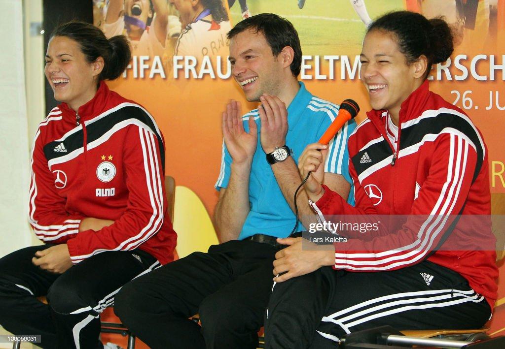 DFB Women National Team Visit School In Wolfsburg