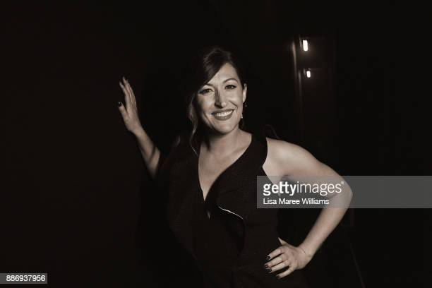 Celia Pacquola poses backstage during the 7th AACTA Awards Presented by Foxtel at The Star on December 6 2017 in Sydney Australia