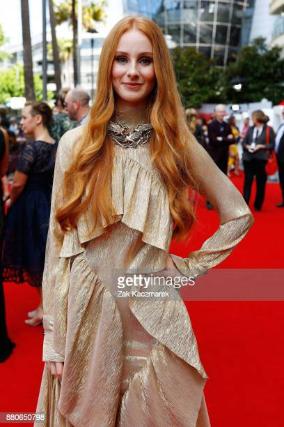 Celia Pavey of Vera Blue arrives for the 31st Annual ARIA Awards 2017 at The Star on November 28 2017 in Sydney Australia