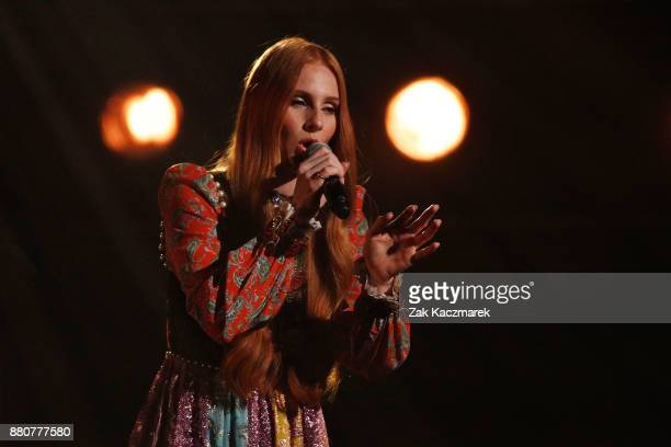 Celia Pavey performs on stage during the 31st Annual ARIA Awards 2017 at The Star on November 28 2017 in Sydney Australia