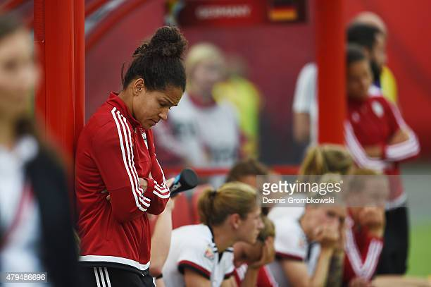 Celia Sasic of Germany looks dejected after the FIFA Women's World Cup Canada 2015 Third Place Playoff match between Germany and England at...