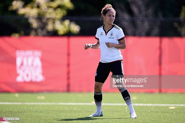 Celia Sasic of Germany warms up during a training session at Richcraft Recreation Complex on June 4, 2015 in Ottawa, Canada.