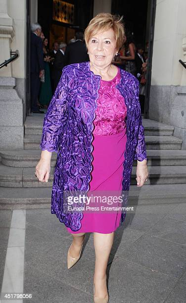 Celia Villalobos attends the wedding of Rocio Posada and Jose Rubio Vela at San Manuel and San Benito church on July 5 2014 in Madrid Spain