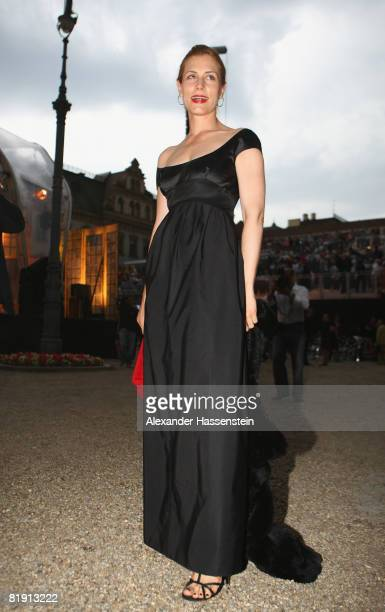 Celia von Bismarck attends the opera 'Carmen' at the Thurn und Taxis castle festival on July 11 in Regensburg Germany