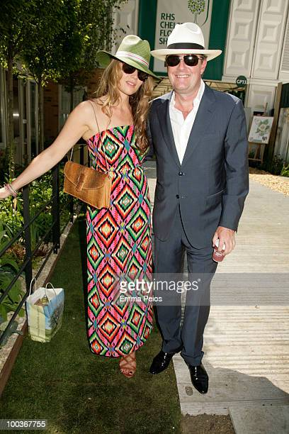 Celia Walden and Piers Morgan attend the Press VIP preview at The Chelsea Flower Show at Royal Hospital Chelsea on May 23 2010 in London England