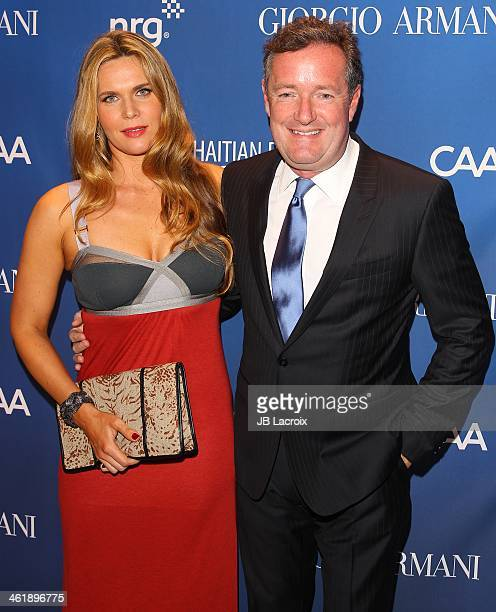 Celia Walden and Piers Morgan attend the Sean Penn 3rd Annual Help Haiti Home Gala Benefiting J/P HRO Presented By Giorgio Armani at Montage Beverly...