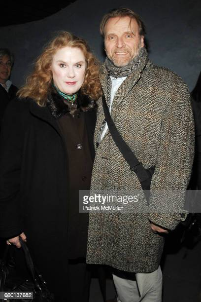 Celia Weston and David Rasche attend THE CINEMA SOCIETY NEXTBOOK GREY GOOSE host the after party for 'DEFIANCE' at Shang at the Thompson LES Hotel on...