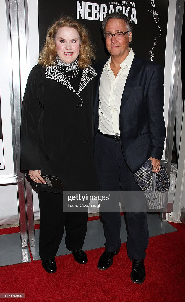 Celia Weston and Mitchell Lichtenstein attend the 'Nebraska' screening at Paris Theater on November 6, 2013 in New York City.