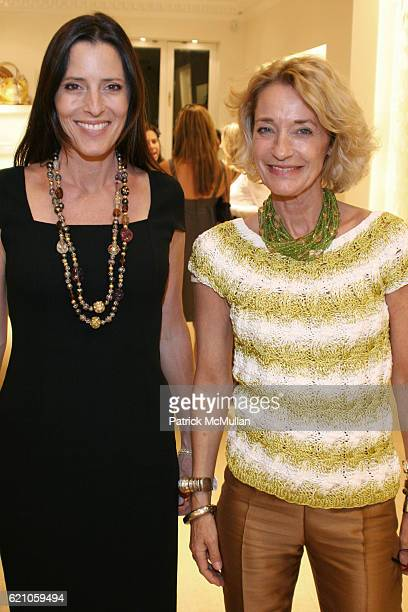 Celilia Peck and Voll Loulou de la Falaise attend Exclusive Preview of the Fall 2008 Fine Jewelry and Handbag Collection at Oscar de la Renta at...